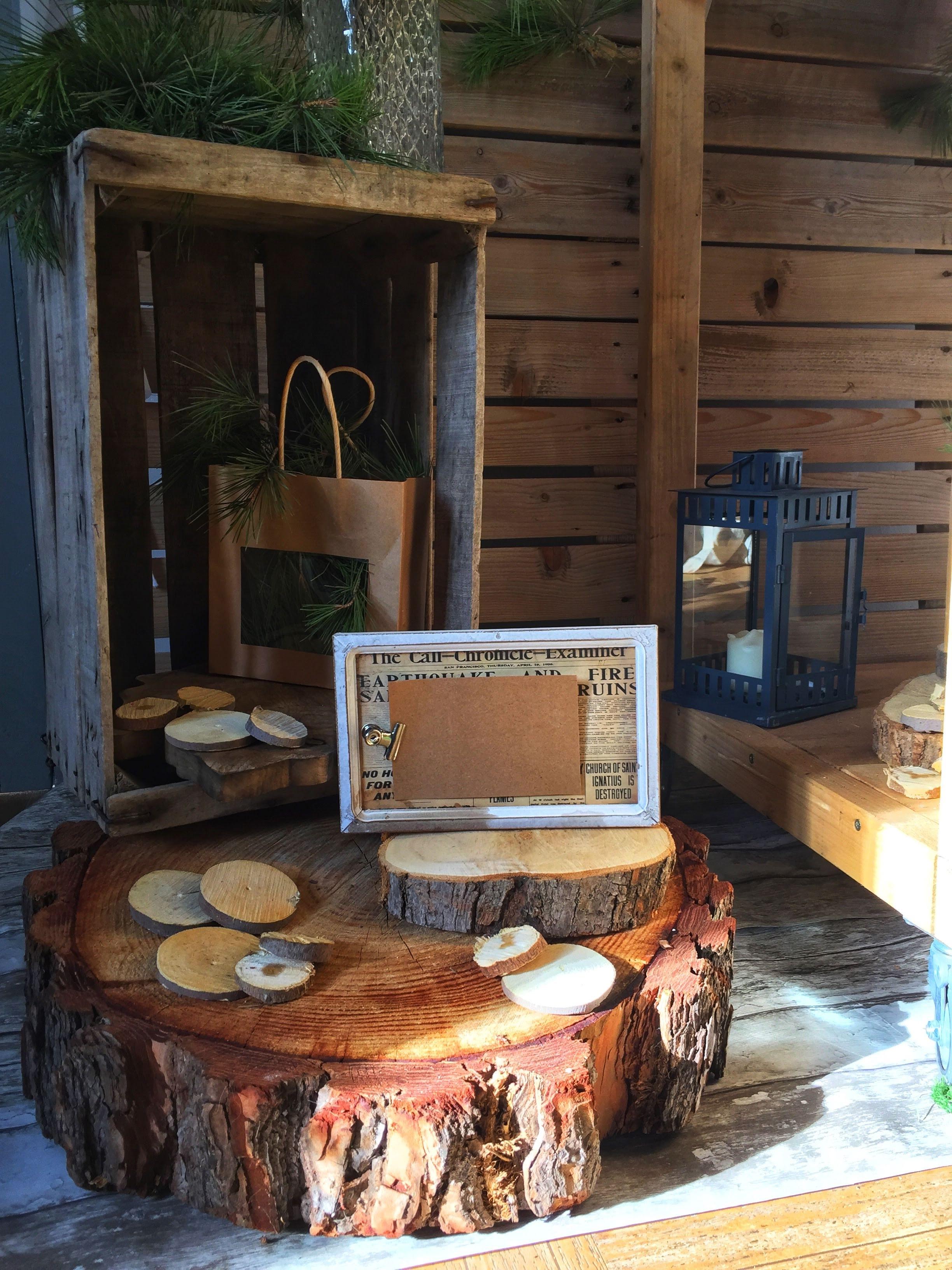 Moyen rondin bois champetre