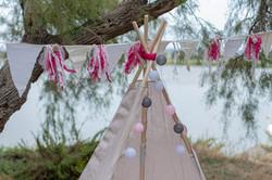 Guirlande de franges fushia