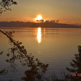 Sunset looking over Vancouver Island