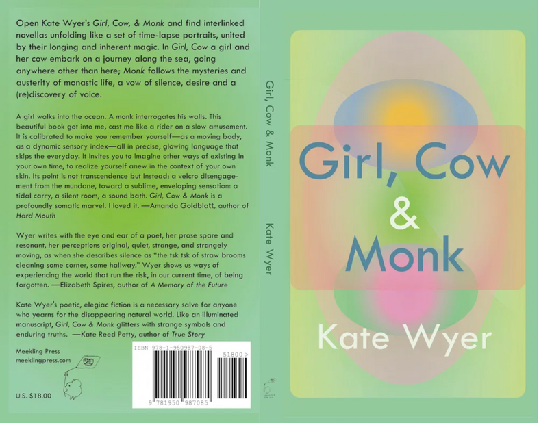 Cover art for Girl, Cow & Monk by Kate Wyer (Meekling, 2020)