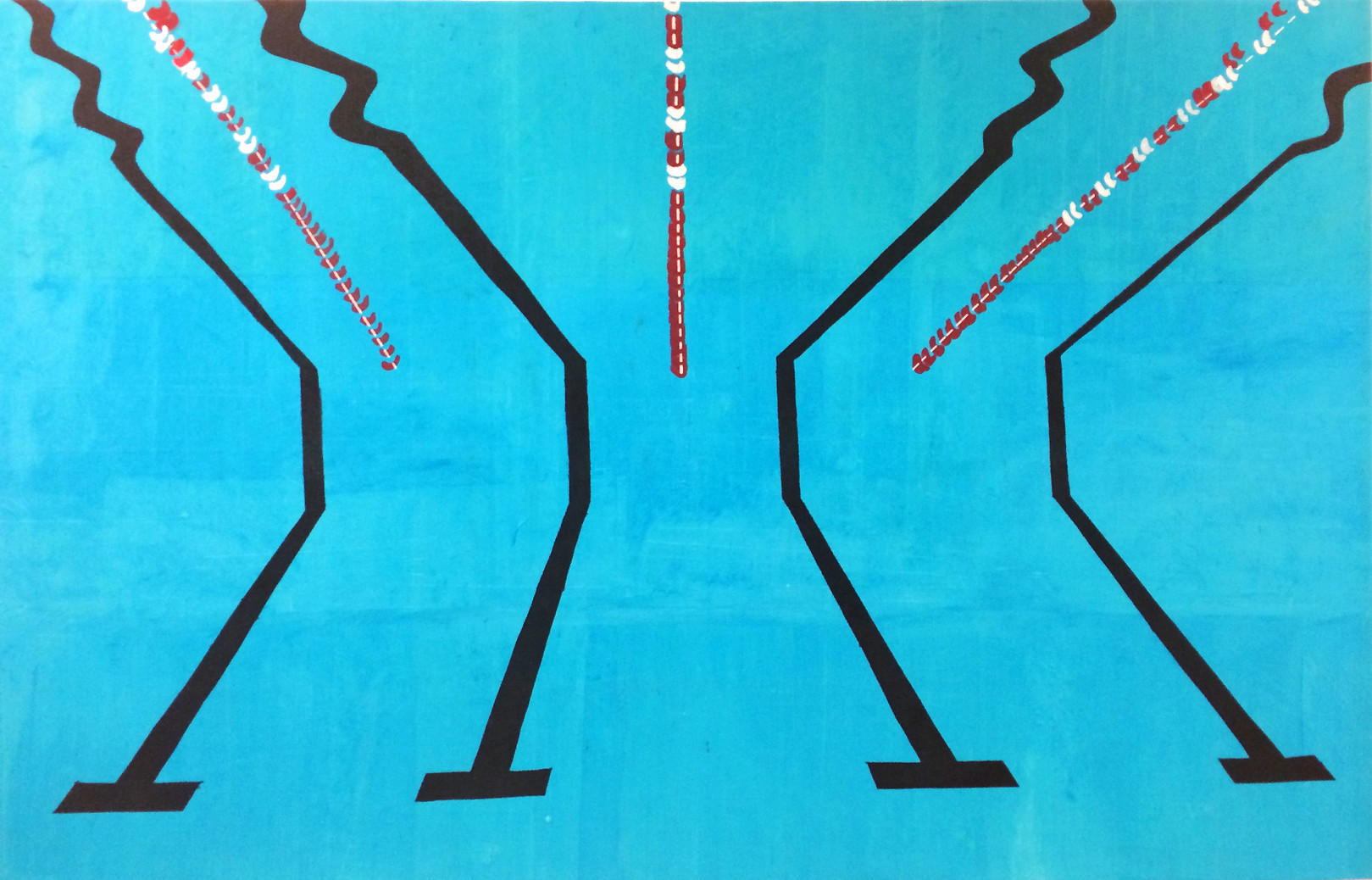 Pool 1 (large scale screenprint on canvas, 2015)
