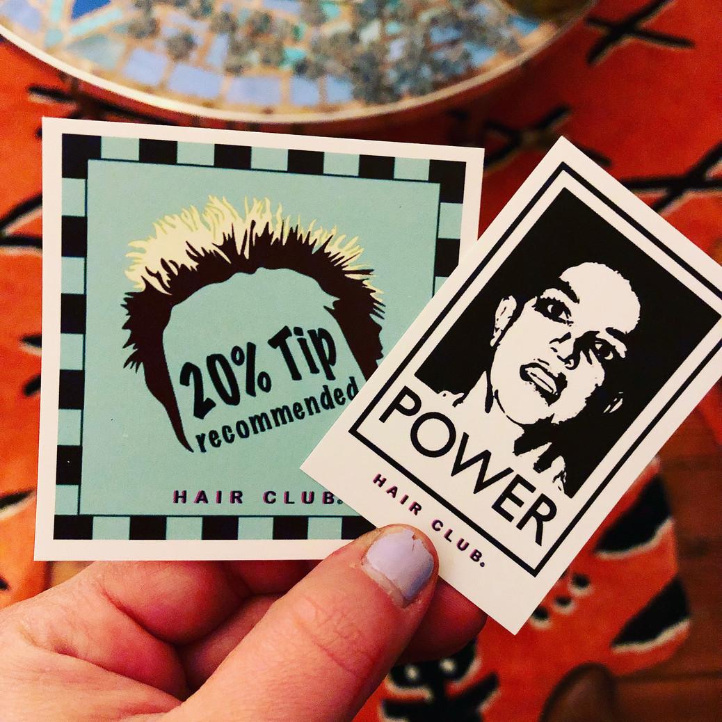 Stickers, HAIR CLUB