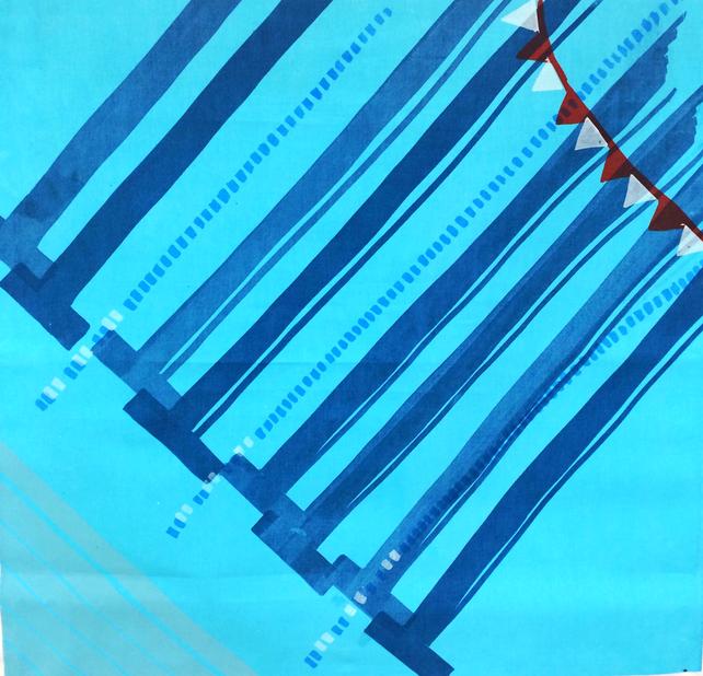 Small Pool series #6 (screenprint on fabric, 2014)
