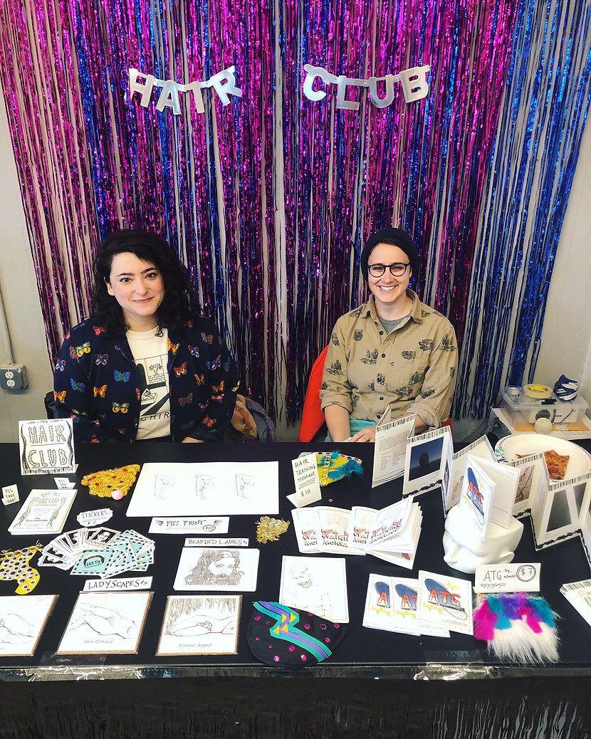 Tabling at the Spiral Bound Art Book Fair, 2019