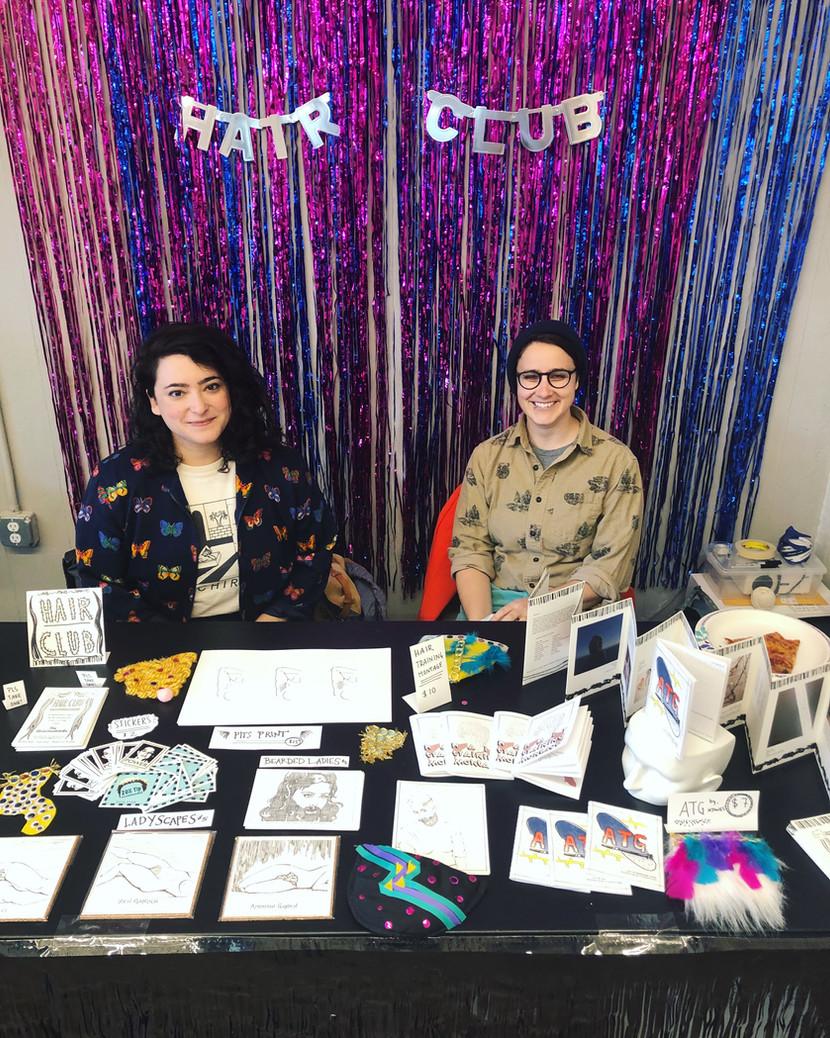 Tabling at the Spiral Bound Art Book Fair, 2019