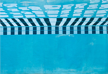 Pool 4 (large scale screenprint on canvas, 2015)