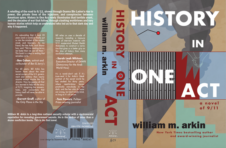Cover design for History in One Act by William M. Arkin (Featherproof Books, 2021)
