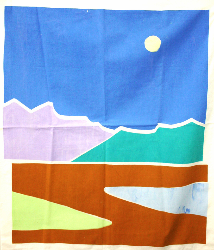 Landscape 1 (screenprint on fabric, 2014)
