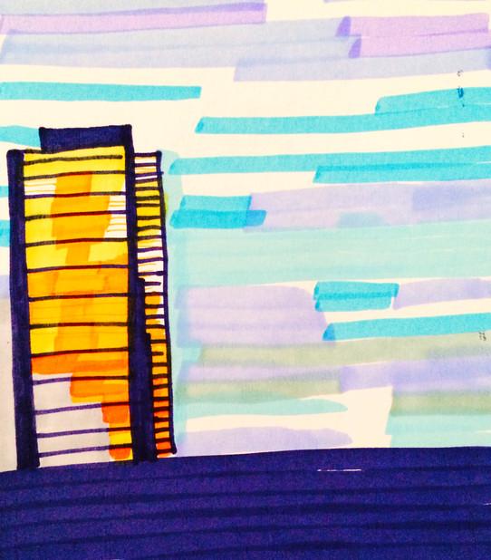 Hi-Liter Sunset building (2014)