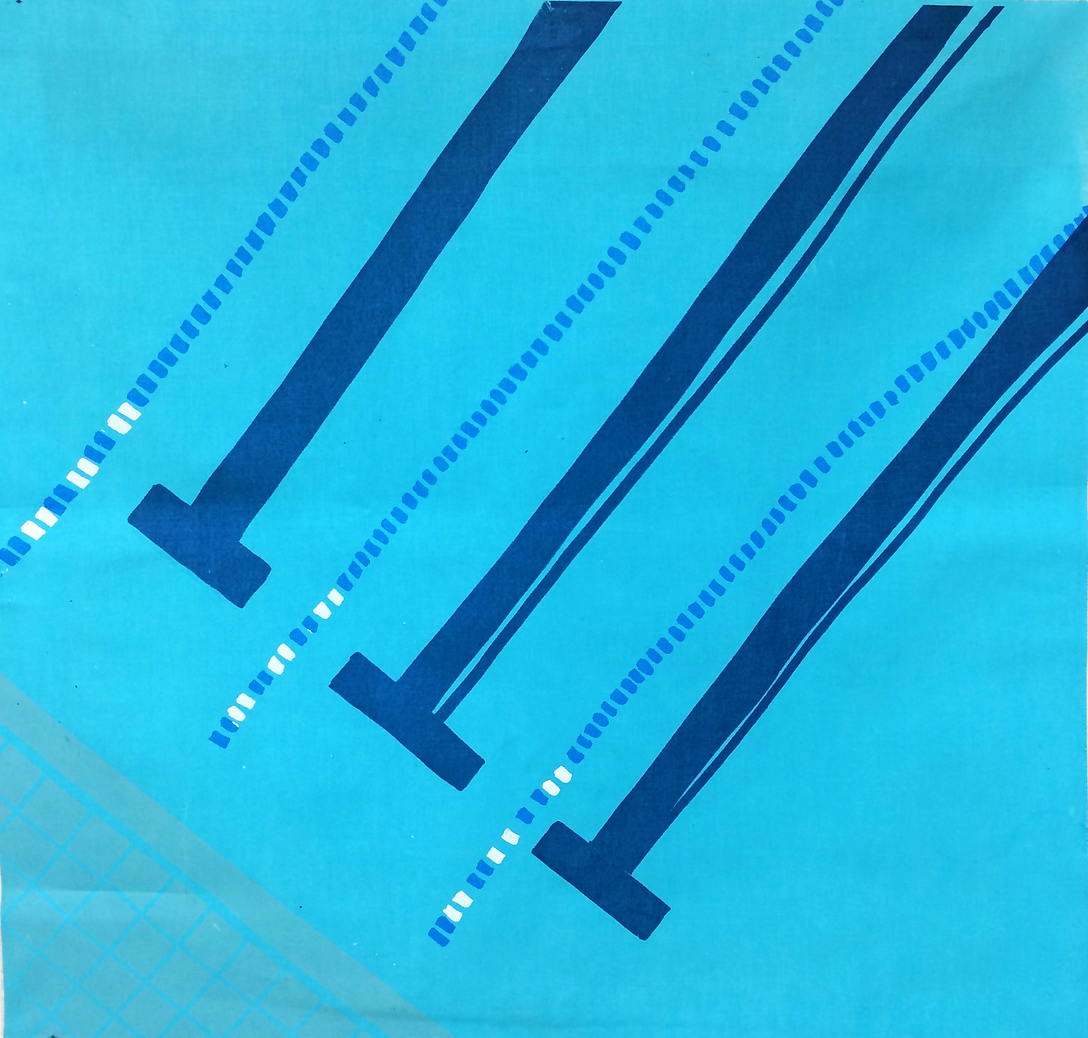 Small Pool series #1 (screenprint on fabric, 2014)