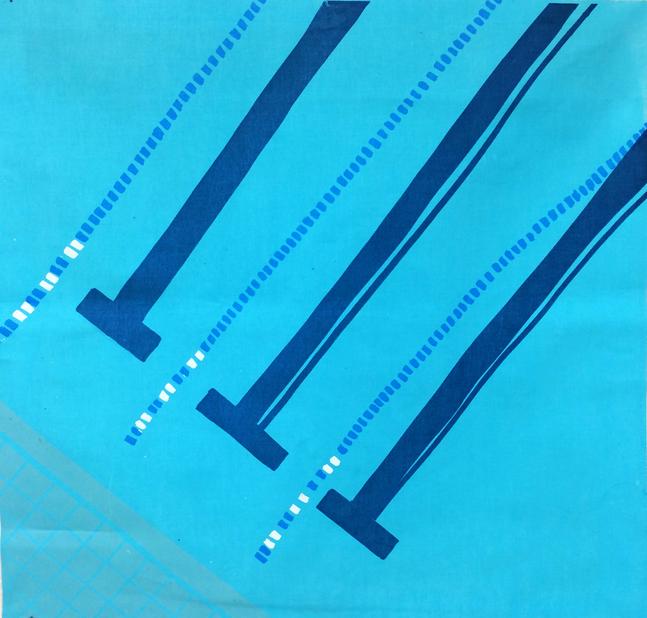 Small Pool series #1 (screenprint on fabric, 2014)