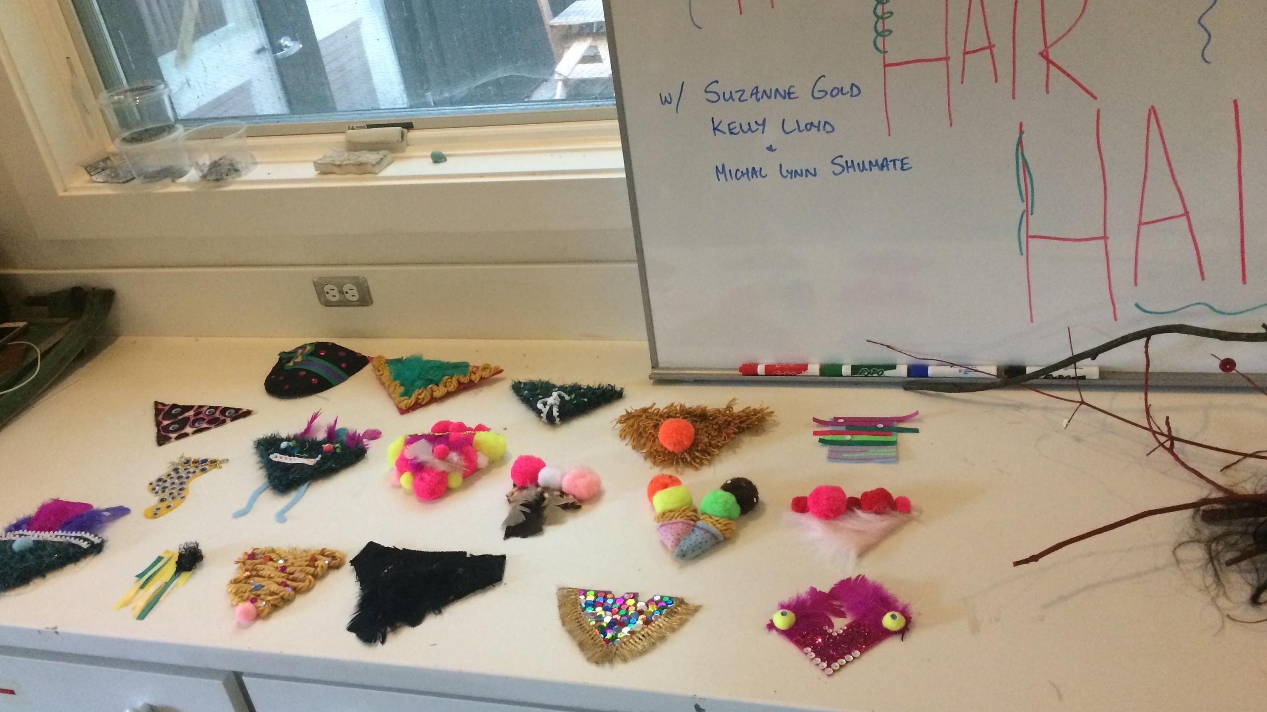 Merkin Making Workshop Creations