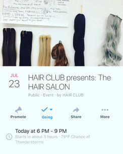 HAIR SALON event at ICA Baltimore, 2018