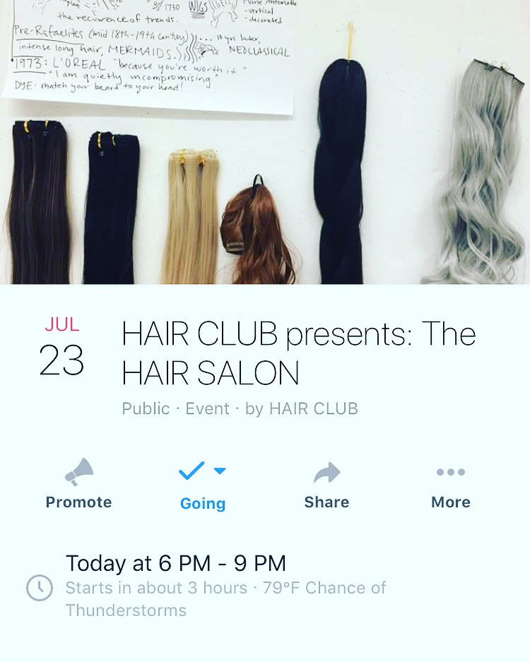 HAIR CLUB presents: The Hair Salon at Institute of Contemporary Art, Baltimore, MD 2018