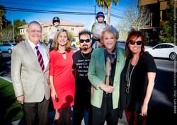 DJ Snowman, V, Julie + Mayor Goodman
