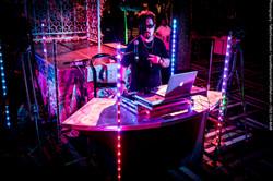 DJ Snowman DJ-ing at Black & White Party