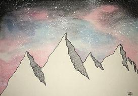 Mountains in a Tie Dye Galaxy - Tyler.jp