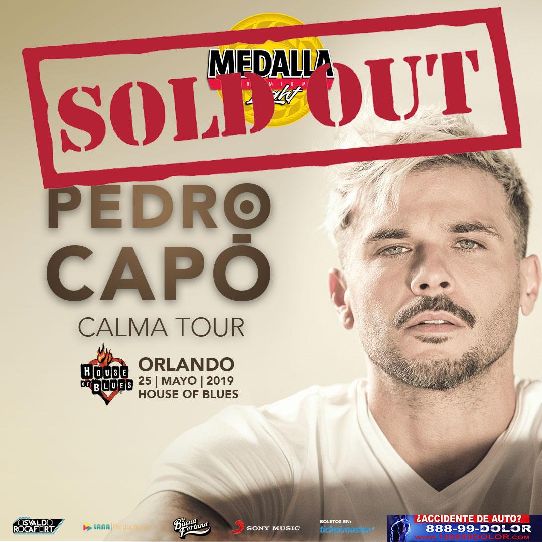 Pedro Capó - HOB Orlando - Soldout