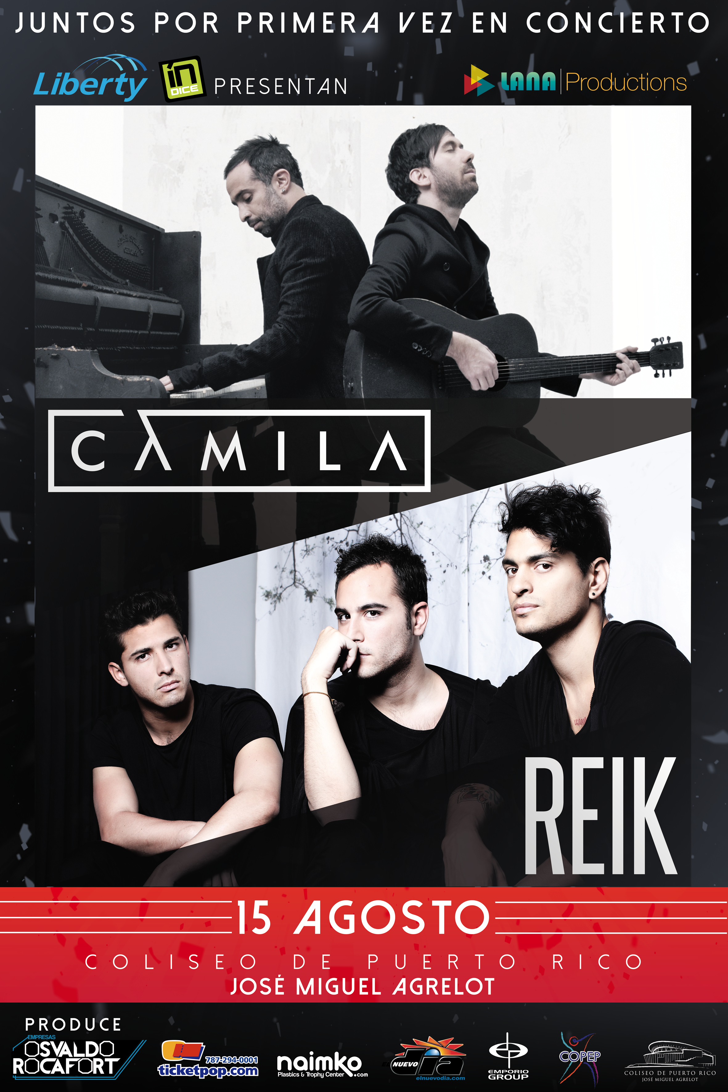 Camila y Reik en concierto