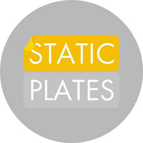 Static Plate stickers