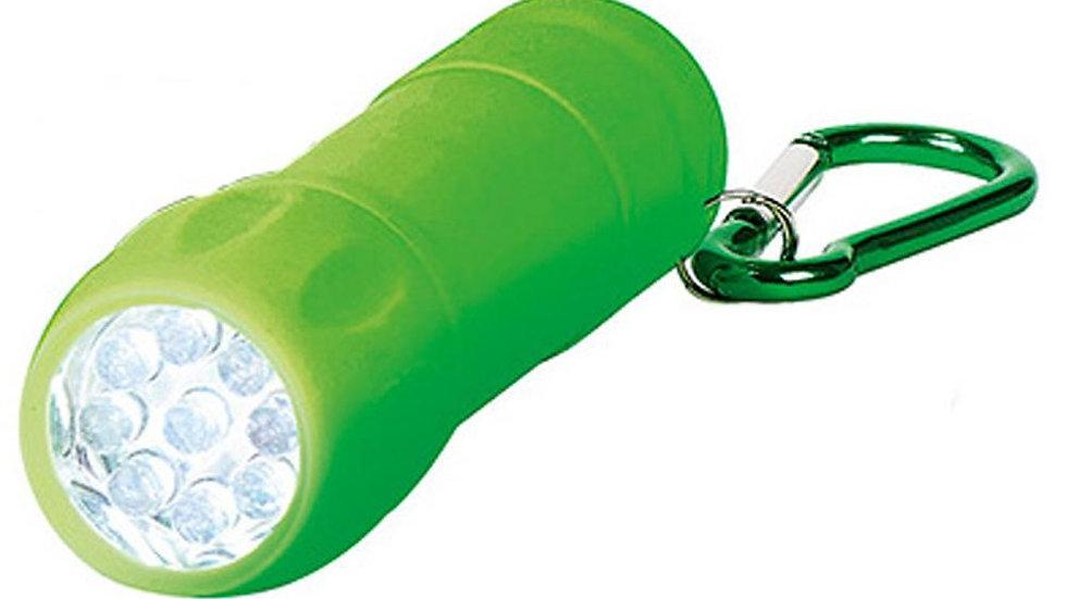 Taschenlampe mit Karabiner grün