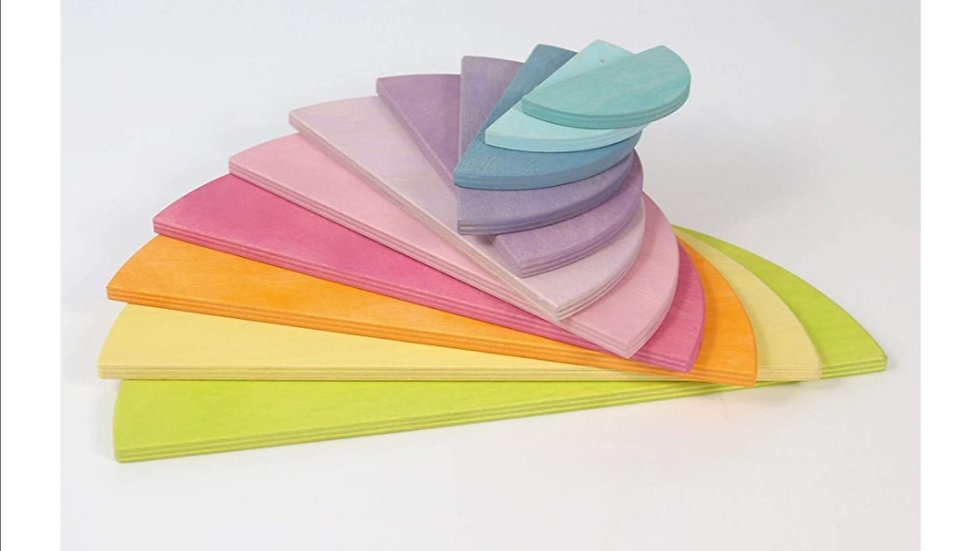 Regenbogen Bauplatten pastell halbrund