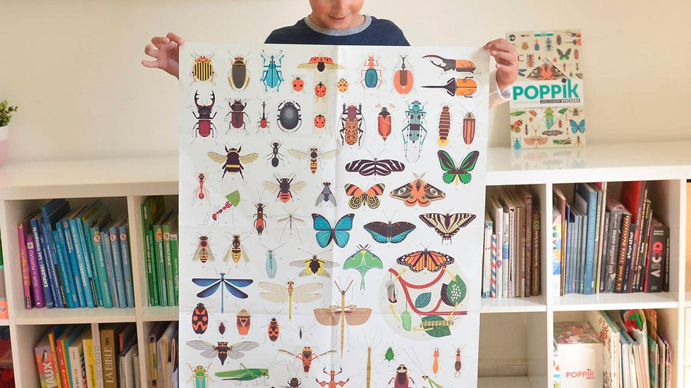 Riesen Stickerposter Insekten