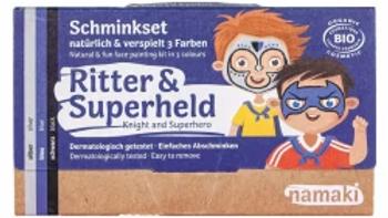 3er Set Bio Schminkfarben Ritter und Superheld