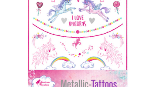 Einhorn-Tattoos Metallic