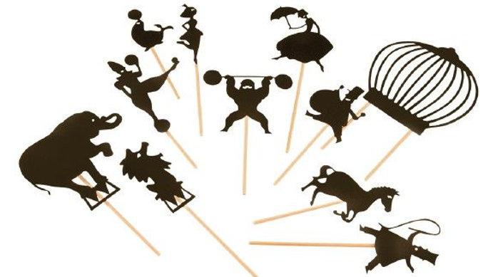 Schattentheater-Figuren Zirkus