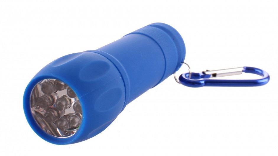 Taschenlampe miit Karabiner Blau