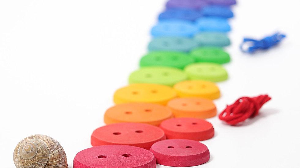 Fädelspiel Knöpfe Regenbogen