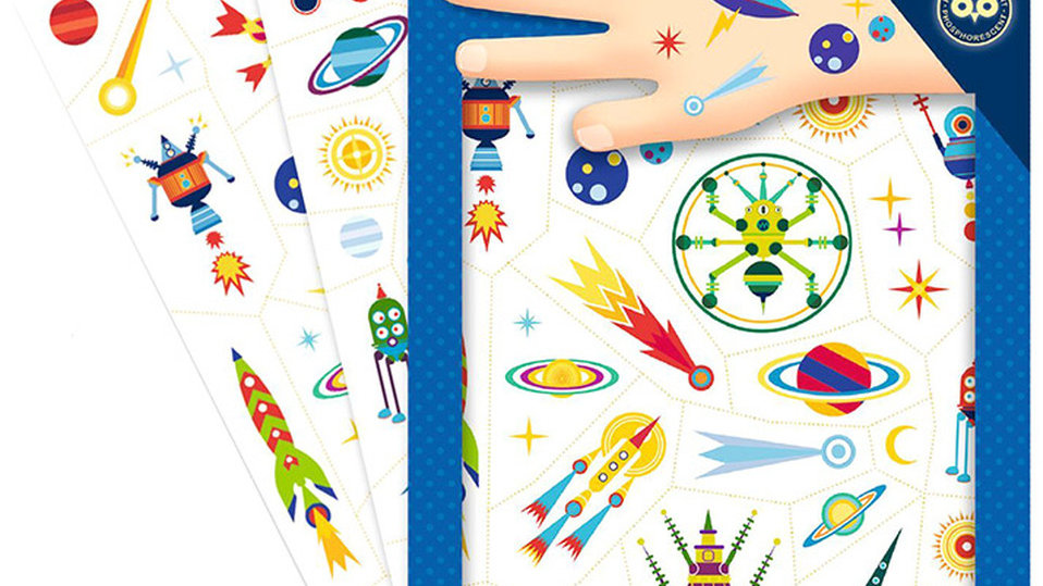 Tattoos Space, nachtleuchtend