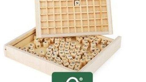 Holzsetzkasten Buchstaben