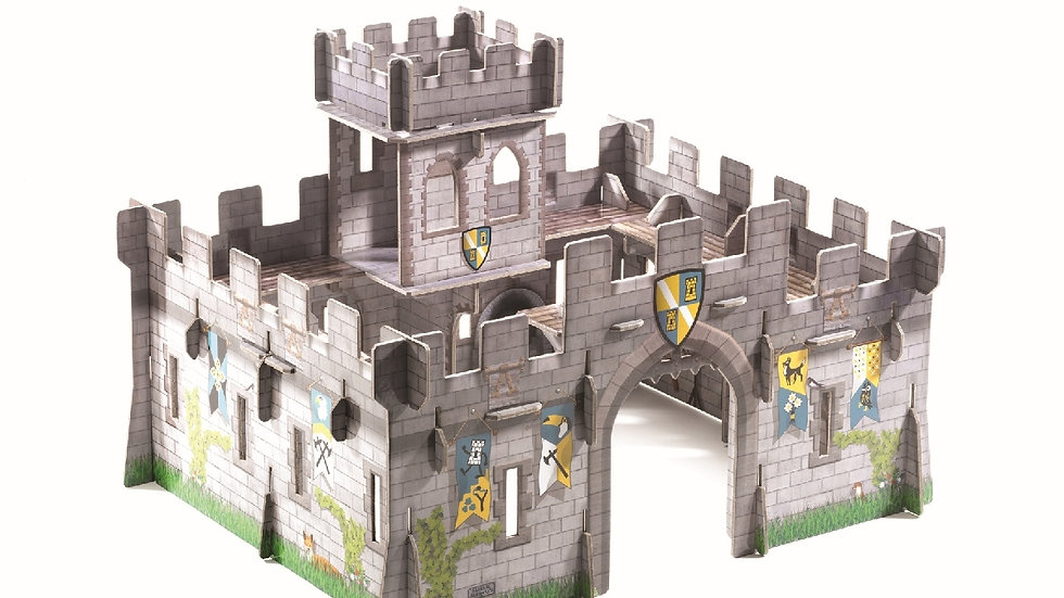 Burg aus festem Karton