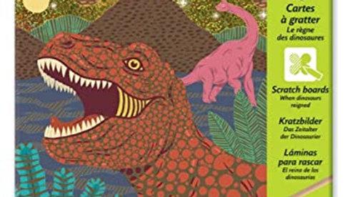 Kratzbild Dinosaurier