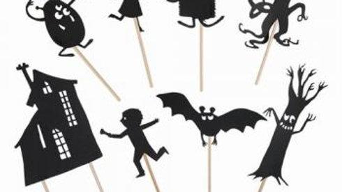 Schattentheater-Figuren Monster glow