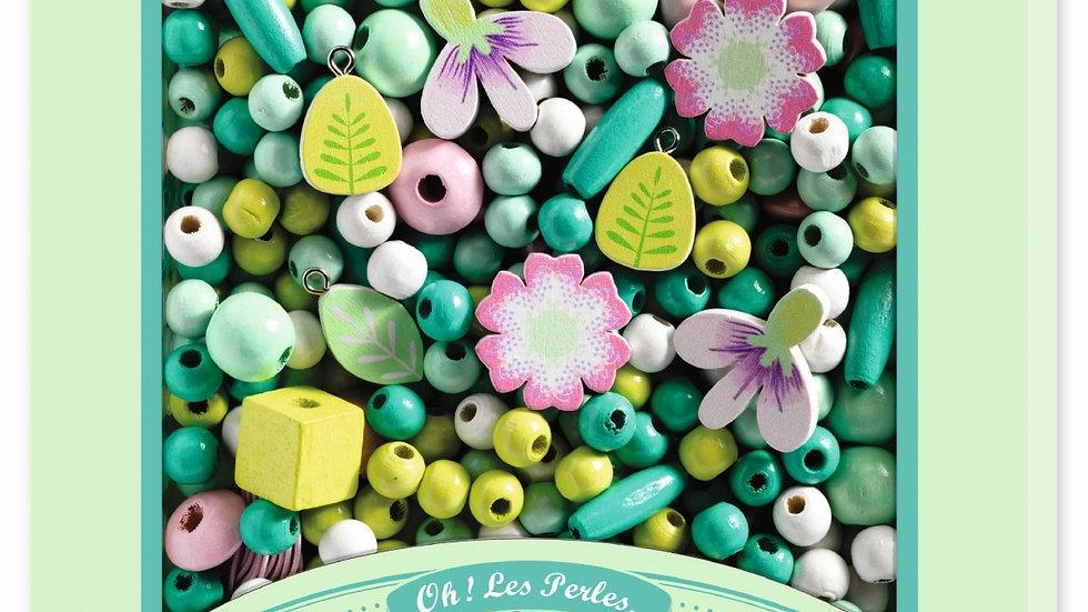 450 Holzperlen Blumen
