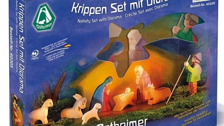 Ostheimer Krippenset mit Diorama