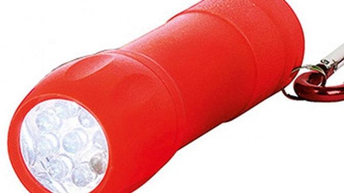 Taschenlampe mit Karabiner Rot