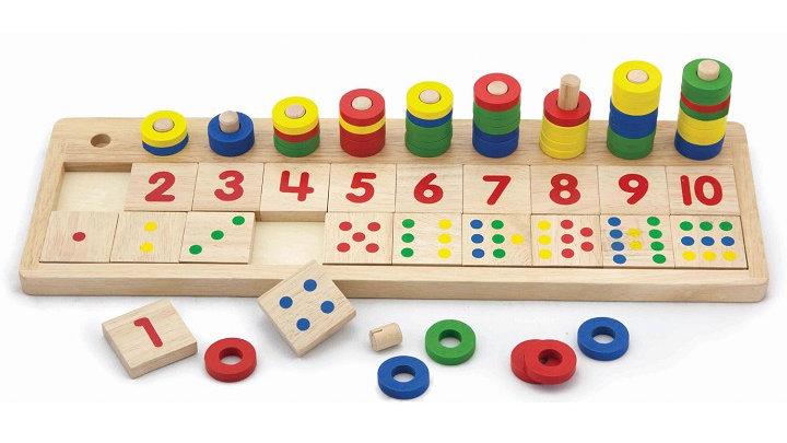 Montessori Zahlentablett