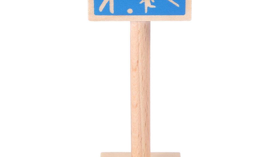 Holzschild Spielstrasse