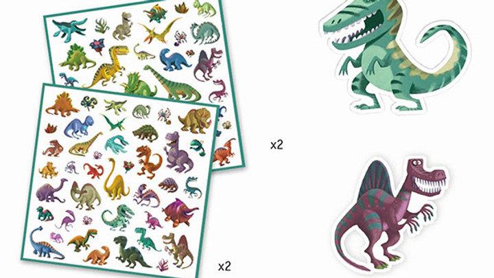 Stickerset Dinosaurier