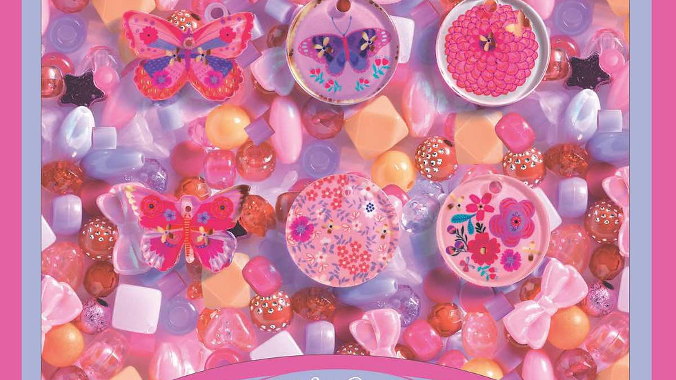 Perlenset Schmetterlinge rosa