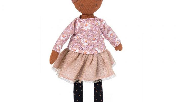 Kleine Puppe rosa Kleid