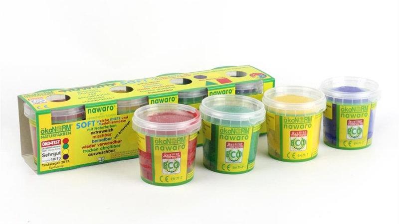 Softknete Öko in 4 Grundfarben