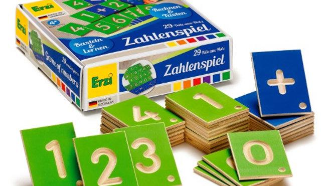 Zahlenspiel Holz