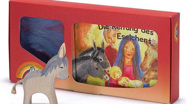 Set Esel und Buch