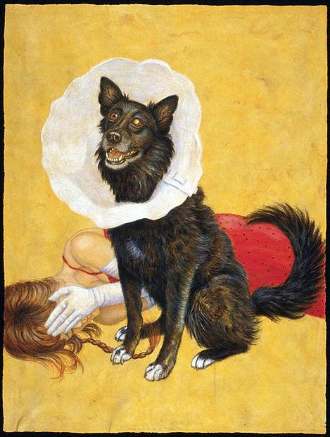 Self Portrait of Riva Lehrer and Zora, her dog