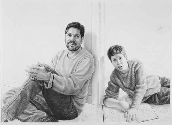 Drawing of Douglas and Nathan Lehrer